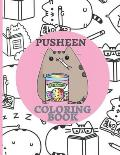 Pusheen Coloring Book: For Girls, Boys, Toddlers, Kids Ages 3-12, The perfect coloring book for fans of I Am Pusheen the Cat